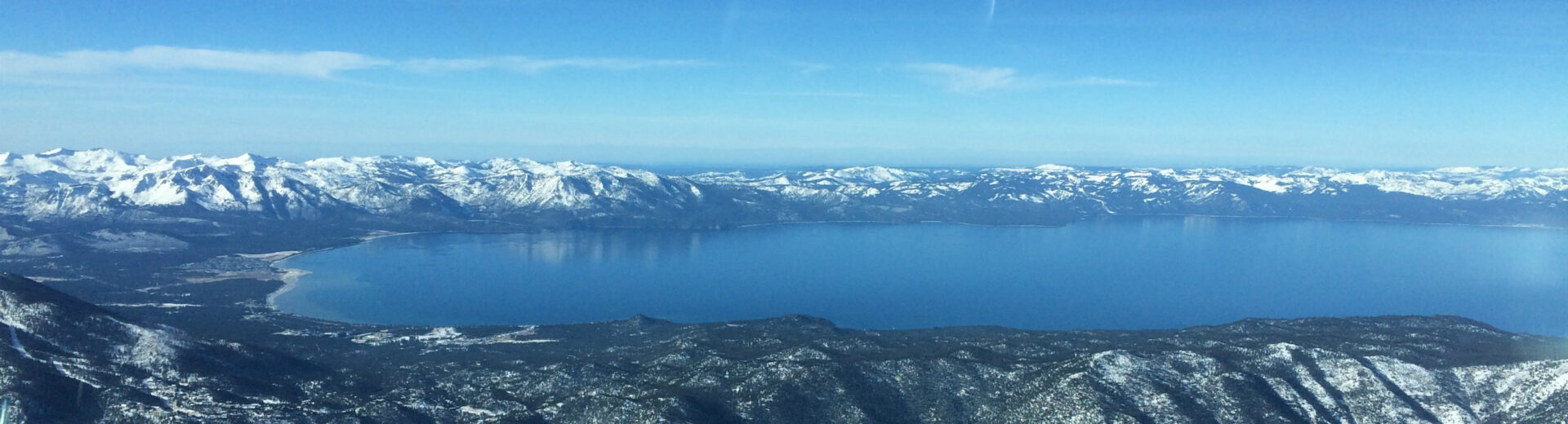Airborne Photo of Lake Tahoe