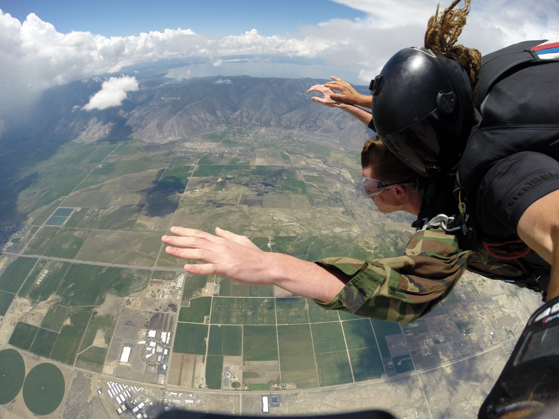 Tandem Skydiving Above California