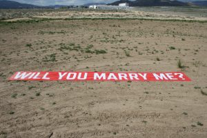 Will you Marry me Sign for Skydiving Proposal