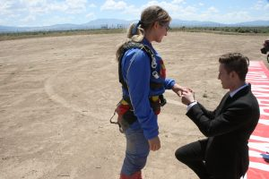 Skydive marriage proposal